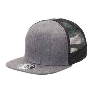Heathered Flat Peak Trucker with Supacolour Printing - FULL COLOUR Thumbnail